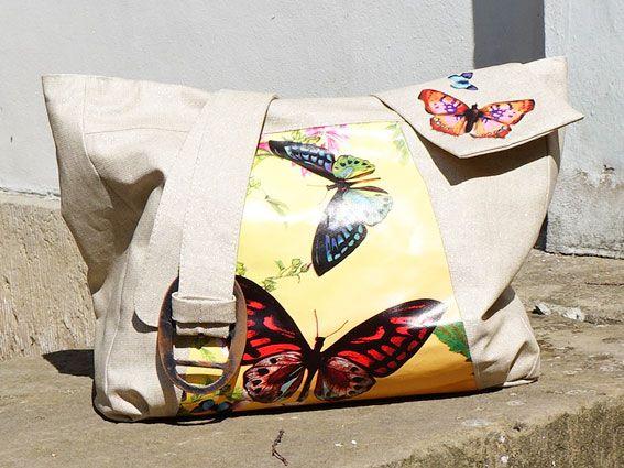 Handtasche mit schönen Schmetterlingsmotiv