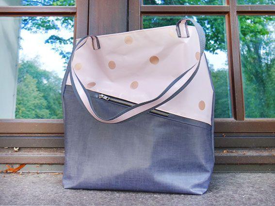 Tasche mit Punkten im schönen Design selber nähen