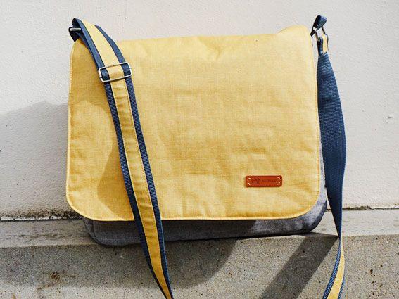 Laptop-Tasche aus wetterfestem Material selber nähen