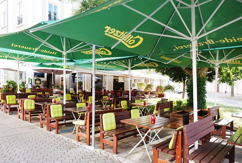 Höheres Gästeaufkommen in der Gastronomie durch mehr Außensitzmöbel und Sonnenschirme ergänzt mit pflegeleichten abwaschbaren Tischdecken
