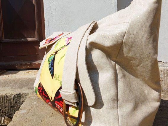 Handtasche mit Schmetterlingsmotiv einfach selber nähen