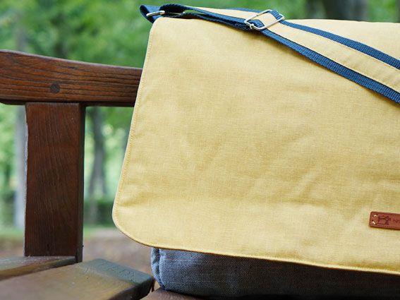 DIY - modische Herren-Laptop-Tasche aus beschichtetem Baumwollwachstuch