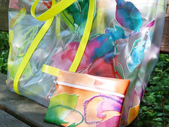 selber angefertigte Standtasche mit kleinem Täschlein