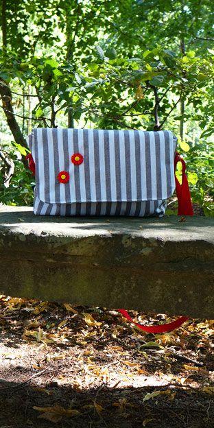 Anleitung zu kleiner Handtasche die wetterfest ist