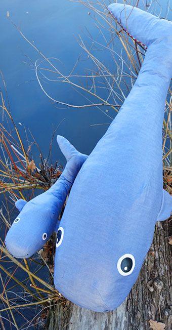 Deko-Wale aus Wachstuch und Baumwolle nach Anleitung basteln