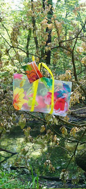 bunte Strandtasche - DIY Anleitung mit Bildern