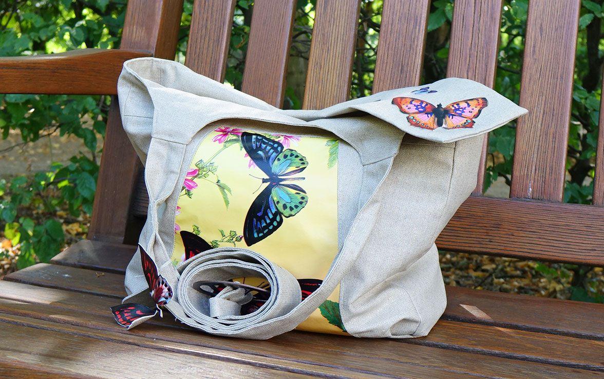 Beispiel für Handtasche aus beschichteter Baumwolle