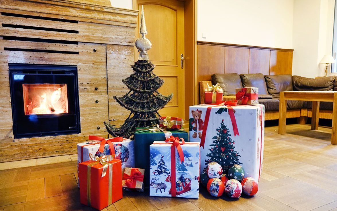 Dekoidee für Weihnachten aus Wachstuch zum selber basteln