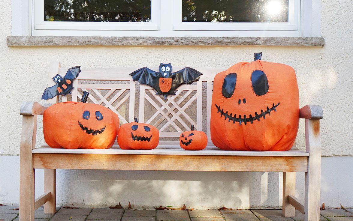 DIY-Anleitung für Halloween Kürbisse und Fledermäuse