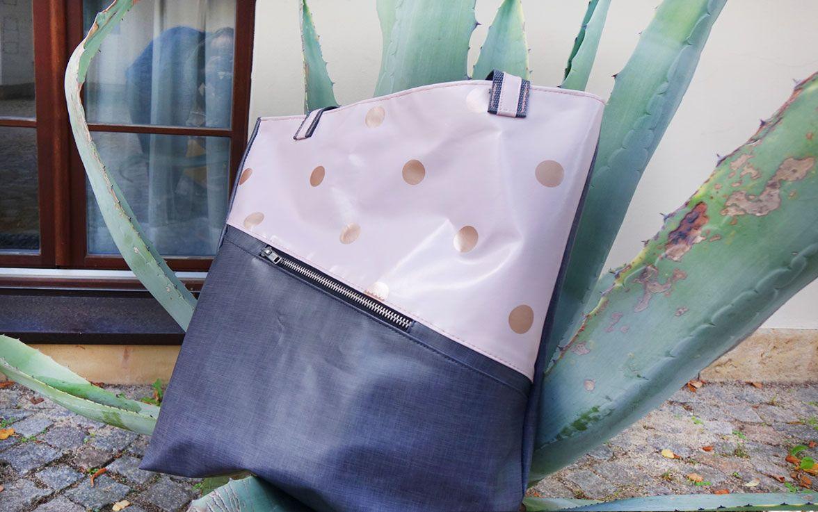 Tasche in modischen Farben nach Bastelanleitung nähen