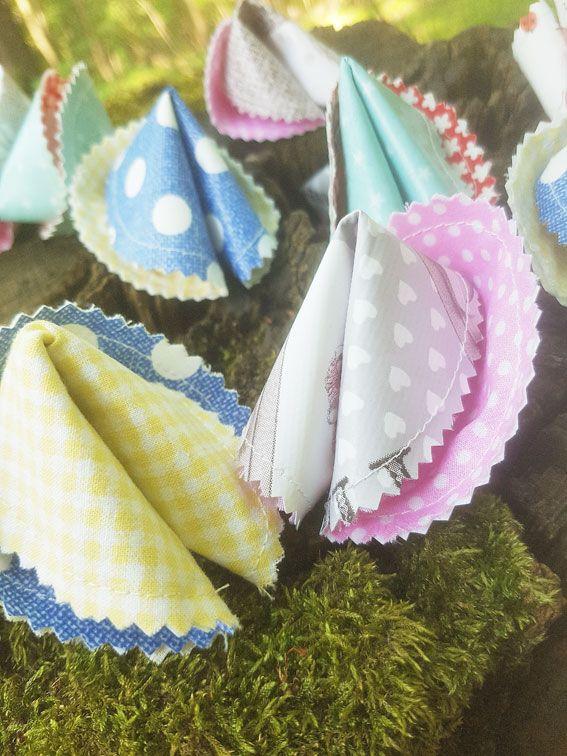 DIY-Glückskekse aus Baumwolle in bunt